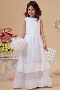 Church Lace White Chapel Train Multi Layer Bateau Sashes Zipper Up Winter Flower Girl Dress