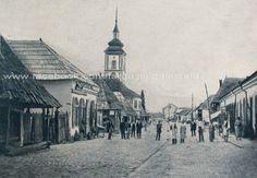 Targu Jiu - Str Baroi (astazi Victoriei ) si biserica Sf. Imparati ( biserica de peste drum de magazinul Parang ) inainte de 1877 Paris Skyline, Travel, Viajes, Destinations, Traveling, Trips