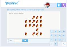 Accede a los recursos para trabajar las fracciones a través de Smartick. PULSA LA IMAGEN. Pulsar, Desktop Screenshot, Fractions
