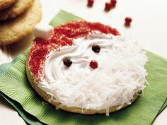 25 Days of Christmas Cookies: Jolly Santa Cookies