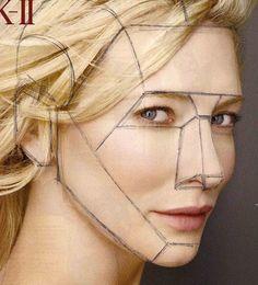 the planes of the face | draw planes of the face over magazine
