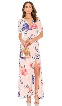 The master of the floral print wrap dress...Yumi Kim // Yumi Kim J'Adore Maxi Dress in Yours Truly