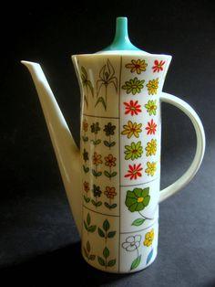 1960s/70s Rosenthal 'Piemonte' coffee pot; Form design: Hans-Theo Baumann; Pattern design: Emilio Pucci
