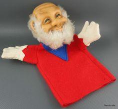 Steiff Gnome King Felt & Dralon Plush Hand Puppet 17 cm no ID 1970s Vtg no crown