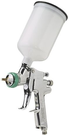 HVLP Paint Sprayer Gun - Pattern and Fluid Control Handheld Sprayer w/ Gravity Feed Canister (Campbell Hausfeld Hvlp Paint Sprayer, Paint Sprayers, Quiet Air Compressor, Power Sprayer, Diy Kitchen Cabinets, Air Tools, Painting Cabinets, Painted Furniture, Furniture Refinishing