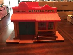 Vintage Fisher Price Little People Western Town Building Only #FisherPrice