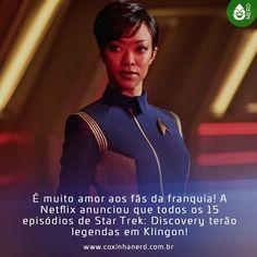 #CoxinhaNews Os Trekkers piram! #TimelineAcessivel #PraCegoVer Imagem da tenente Michael Burnham (Sonequa Martin-Green) em Star Trek: Discovery com a legenda: É muito amor aos fãs da franquia! A Netflix anunciou que todos os 15 episódios de Star Trek: Discovery terão legendas em Klingon! TAGS: #coxinhanerd #nerd #geek #geekstuff #geekart #nerd #nerdquote #geekquote #curiosidadesnerds #curiosidadesgeeks #coxinhanerd #coxinhaseries #series #seriados #viciadosemseries #dicadeserie #netflix…