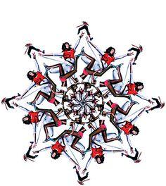 Nike Xmas '06 : Work by Adam Rix www.adamrix.34sp.com/files/gimgs/17_snowflakemain.jpg Caleidoscópio humano e de tênis