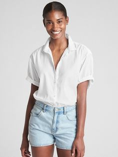 e64b99acee60fb Choose timeless style and quality with blouses for women at Gap. Shop chic women s  shirts in versatile cuts and colors.