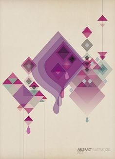 Abstract illustrations by jD style, via Behance