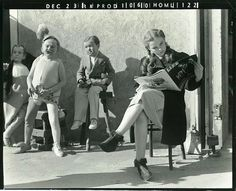 Judy Garland on the set of The Wizard of Oz