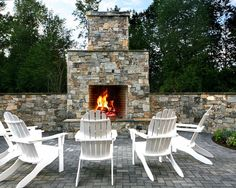 I like the stone, but remember to have a smooth hearth. Fireplace Design, Pictures, Remodel, Decor and Ideas - page 13