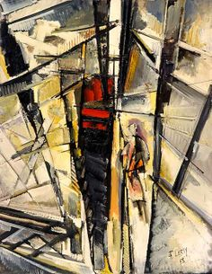 """Steps of the Eiffel Tower,"" Roger Lersy 1958"