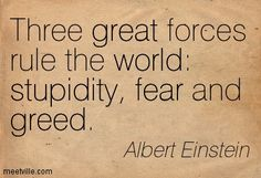 Albert Einstein quote on the human condition http://whatonearthishappening.com/