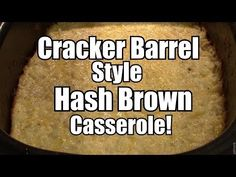 Cracker Barrel Style Hash Brown CasseroleEasy Ninja and Slow Cooker Recipes
