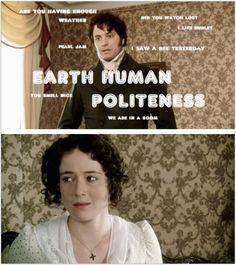 Pride & Prejudice: Awkward Darcy.