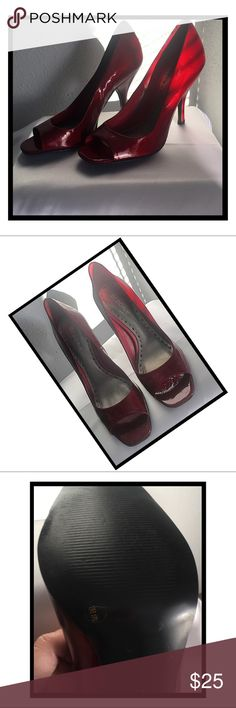 BCBGirls Peep Toe Heels Dorothy Red Peep Toe Heels 👠In Great condition. Worn once. No scuffs. BCBGirls Shoes Heels