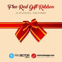 o Free Vector Images, Vector Free, Gift Ribbon, Free Vector Illustration, Image Processing, Online Images, Psd Templates, Red, Gifts