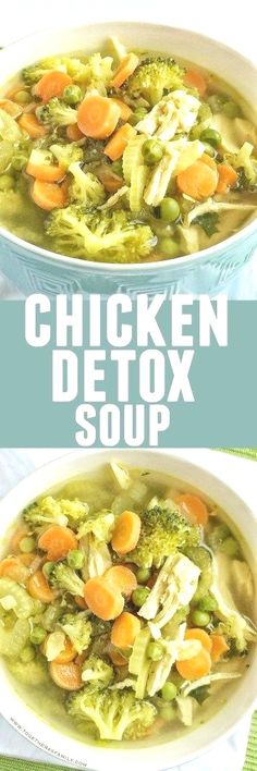 This healthy and delicious chicken detox soup is a great way to eat healthy. It's low-calorie and low-fat!