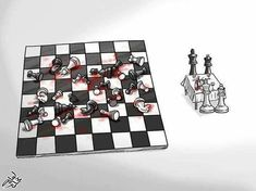 Chess in Modern Times-Dravens Tales from the Crypt Pictures With Deep Meaning, Art With Meaning, Deep Images, Conservative Memes, Satirical Illustrations, Meaningful Pictures, Deep Art, Arte Obscura, Social Art
