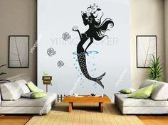 Fairy VINYL Decal Wall Sticker decorflower girl by yitingsticker, $25.99 for Lexys new sea/mermaid theme room