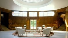 Eltham Palace and gardens: art deco house and medieval palace. Opening hours 10am-6pm (20 min from NX)  Art deco fair on May 16 & 17; jazz on sun afternoon on July 5 and 19