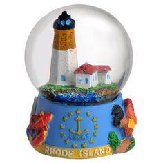 Rhode Island Lighthouse 65mm Snow Globe