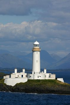 EILEAN MUSDILE lighthouse Lismore  Firth Of Lorne Scotland
