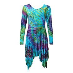Jersey Hanky Hem Skater Dress