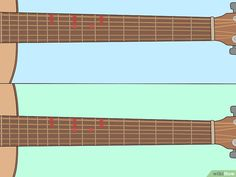 How to Learn Guitar Scales (with Pictures) - wikiHow Beginner Guitar Scales, Learn Guitar Scales, Learn Guitar Beginner, Guitar For Beginners, Guitar Chords For Songs, Music Guitar, Playing Guitar, Acoustic Guitar, Online Guitar Lessons