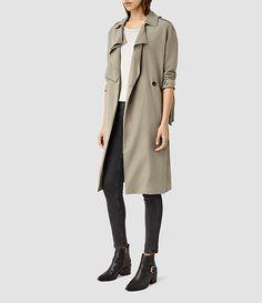 Women's Emil Mac Coat (SAGE GREEN) - product_image_alt_text_2