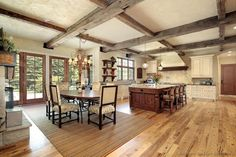 #Kitchen of the Day: Large, rustic, open-plan kitchen... Rustic Kitchen Design #26 (Kitchen-Design-Ideas.org)