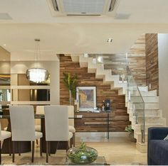 How to choose and buy a new and modern staircase – My Life Spot Interior Stairs, Interior Design Living Room, Living Room Designs, Living Rooms, Modern Stairs, House Stairs, Staircase Design, Design Case, New Homes