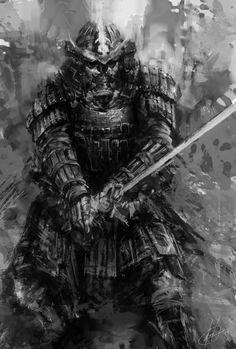 Zombie Samurai – fantasy/horror concept by Michail Mamaschew