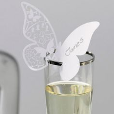 Love this elegant butterfly wedding name place