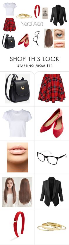 """Nerd Alert"" by heyitskaitlynn ❤ liked on Polyvore featuring RE/DONE, Wet Seal, MDMflow, Cynthia Rowley, LE3NO, Salvatore Ferragamo and Minor Obsessions"
