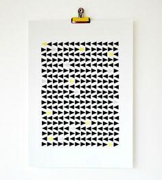 DIY: geometric poster