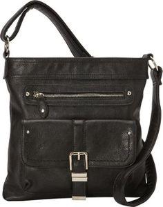 8ad6facdf06198 La Diva Crossbody Bag with Front Buckle Details Black - via eBags.com!
