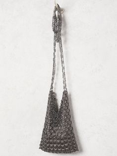 Farrah Crossbody | Handcrafted from nickel-free brass this American made floral chainmail crossbody bag features a silky lining and an inside slip pocket.  Beautiful Swarovski crystals accents and an adjustable long chain strap.  Hook closure.