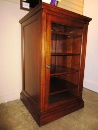 Price: $299.99 | Item #: 49531 Media Cabinet With A Glass Front Door By