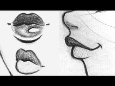 Manga Drawing Tips ♡ How to Draw Lips Art Drawings Sketches, Cartoon Drawings, Easy Drawings, Drawings Of Lips, Art Illustrations, Mouth Drawing, Manga Drawing, Drawing Eyes, Nose Drawing Easy