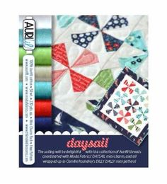 Daysail Aurifil Kit-wow, includes pattern and starter pack of fabric and wonderful Aurifil thread