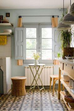 Suelos hidráulicos para una cocina vintage