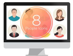 Exclusive set of people icons in flat design style to spice up your presentations. This package includes 8 vector-based characters icons which you can copy and paste in any PowerPoint presentation. They are fully editable! Powerpoint Icon, People Icon, Iconic Characters, Flat Design, Spice Things Up, Charts, Presentation, Icons, Templates