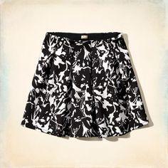Belmont Short Neoprene Pleated Skirt