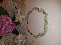 Light Green Jadeite Jade Beads Beaded Necklace! 16inch long