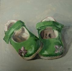 """""""Hattie's other shoes"""" - Original Fine Art for Sale - © Penny German: Painting Still Life, Still Life Art, Small Paintings, Paintings For Sale, Photo Class, Paint Photography, Old Shoes, Art Graphique, Art For Art Sake"""