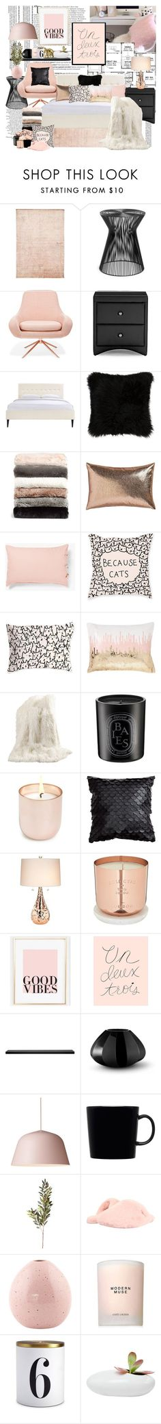 """""""good vibes bedroom"""" by missoumiss on Polyvore featuring interior, interiors, interior design, home, home decor, interior decorating, Balmain, Baxton Studio, Steel 
