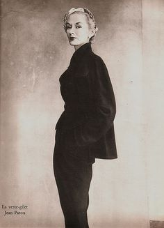 #Irving Penn Photography|Lisa Fonssagrives-Penn in a suit by Jean Patou