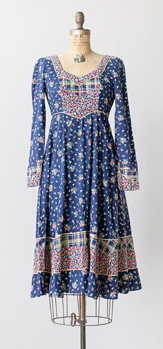 gypsy fields dress | vintage 1970s Gunne Sax dress
